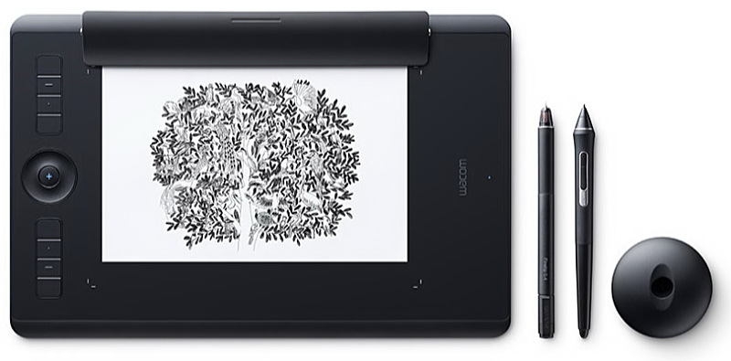 Wacom - Digitalizáló Tábla - Wacom Intuos Pro M North Medium Digitalizáló Tábla, fekete