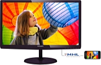 Philips - Monitor LCD TFT - Philips 247E6LDAD/00 23,6' LED FHD monitor, fekete