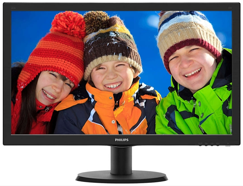 Philips - Monitor LCD TFT - Philips 23,6' 243V5LHAB5/00 LED FHD monitor, fekete