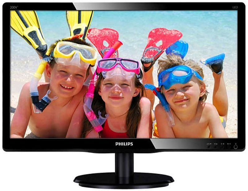 Philips - Monitor LCD TFT - Philips 19,5' 200V4QSBR/00 FHD monitor, fekete
