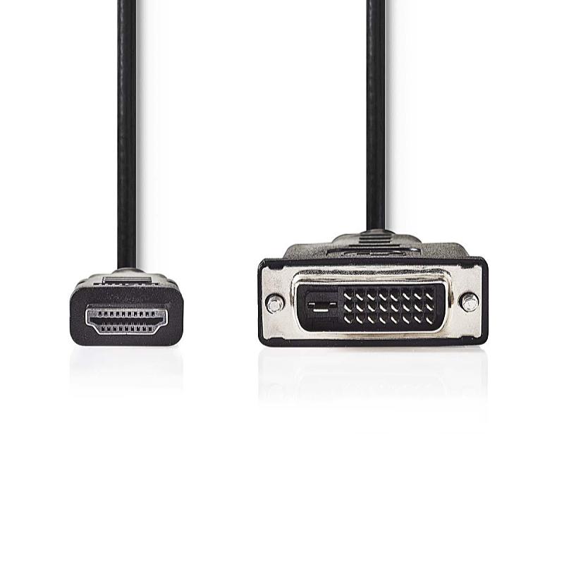 81d021cdd5 Nedis 2m HDMI M - DVI 24+1 M kábel, fekete