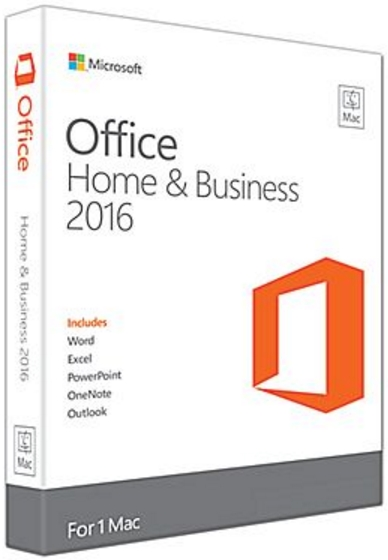 Microsoft - Microsoft - Microsoft Office 2016 MAC Home & Business 1PC ESD, All Language